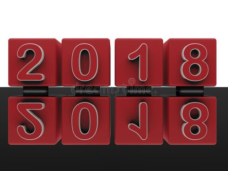 Αντανακλημένη έννοια μετάβασης του 2017 ως του 2018 ελεύθερη απεικόνιση δικαιώματος