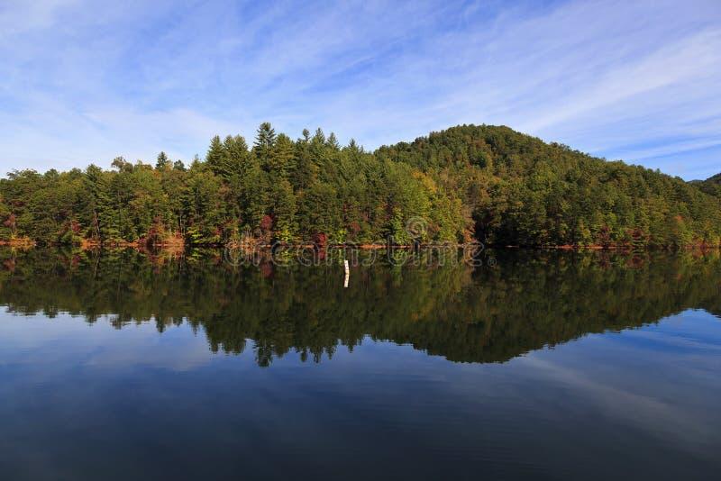 Αντανακλάσεις βουνών σε μια λίμνη στοκ φωτογραφία