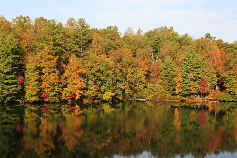 Αντανακλάσεις λιμνών φθινοπώρου στοκ φωτογραφίες με δικαίωμα ελεύθερης χρήσης