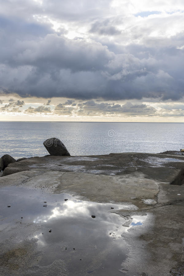 Αντανακλάσεις στη θάλασσα στοκ εικόνες