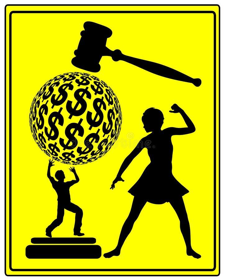 Ανταπόδοση στο δικαστήριο ελεύθερη απεικόνιση δικαιώματος