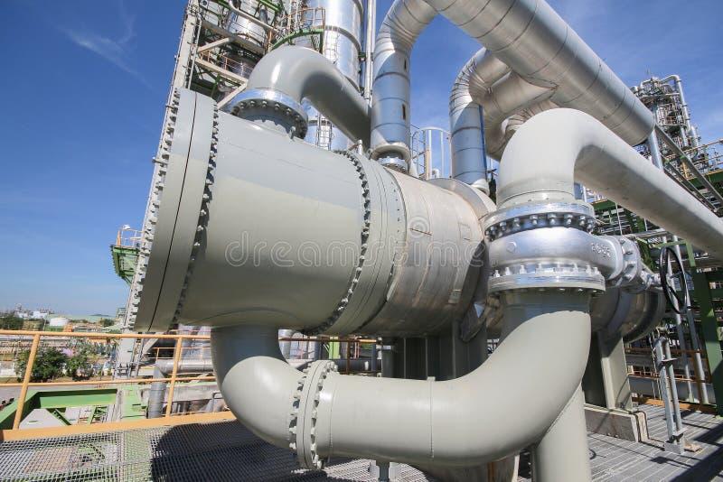 Ανταλλάκτης θερμότητας στις βιομηχανικές εγκαταστάσεις στοκ εικόνες