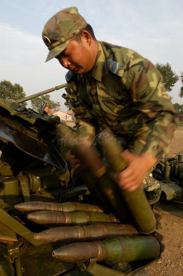 Αντιαεροπορική κατάρτιση ομάδας πυροβολικού aeromodelling στοκ εικόνες
