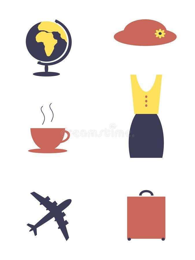 Αντικείμενα γυναικών απεικόνιση αποθεμάτων
