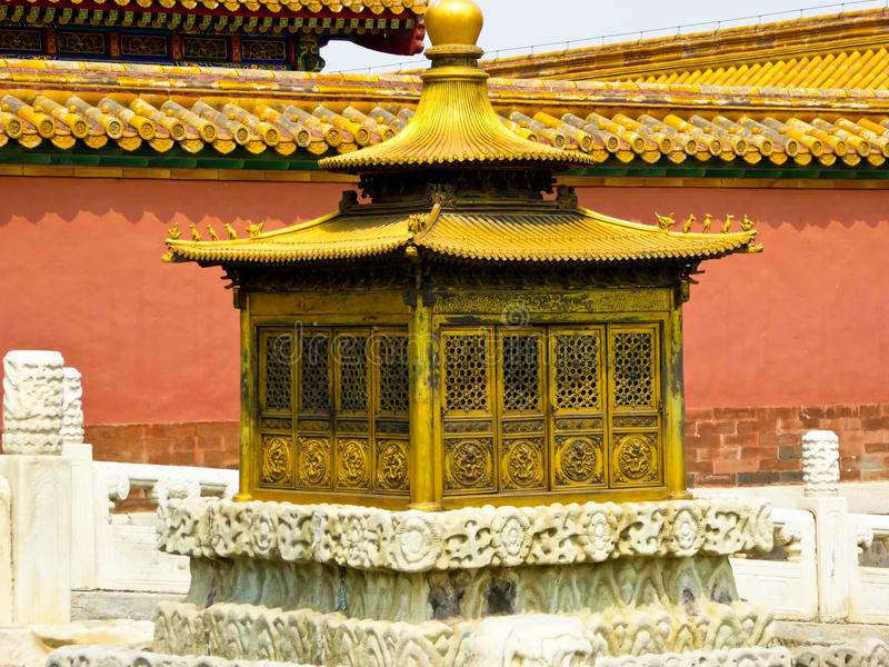 Αντικείμενα μέσα απαγορευμένη στην το Πεκίνο πόλη στοκ φωτογραφίες