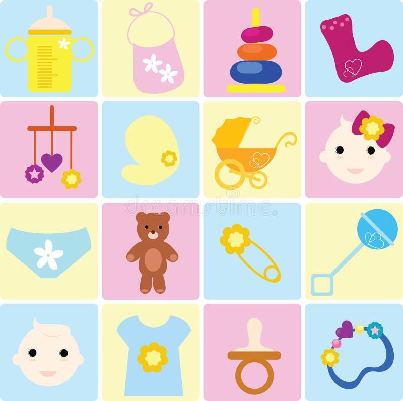 αντικείμενα μωρών απεικόνιση αποθεμάτων