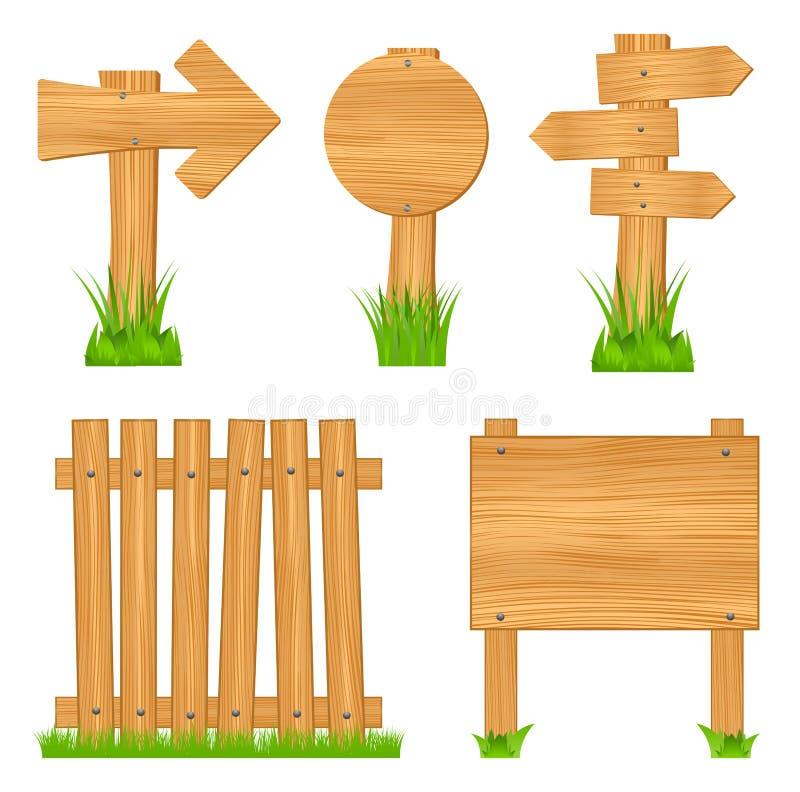 αντικείμενα ξύλινα διανυσματική απεικόνιση
