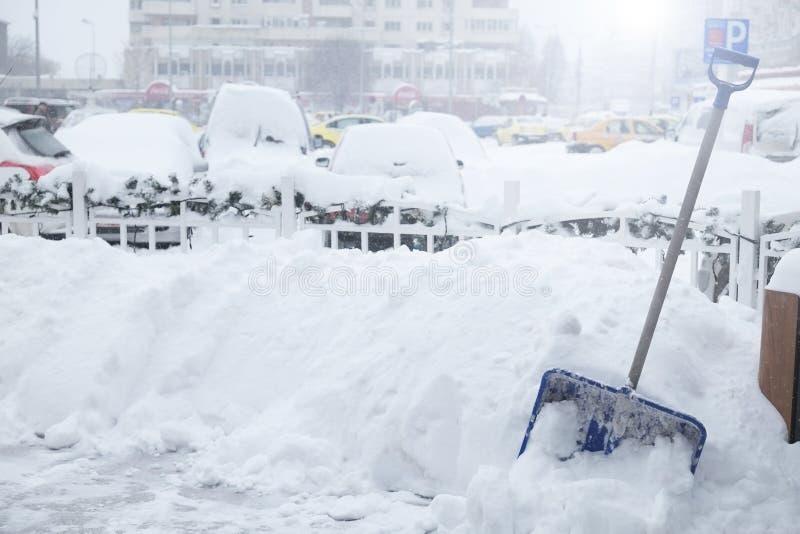 Αντικείμενο αφαίρεσης χιονιού στοκ εικόνες
