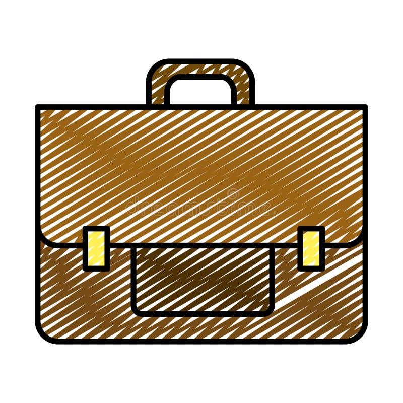 Αντικείμενο επιχειρησιακών χαρτοφυλάκων Doodle για να σώσει το έγγραφο απεικόνιση αποθεμάτων