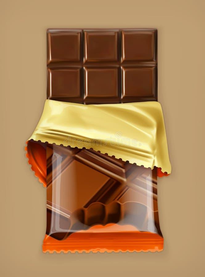 Αντικείμενο φραγμών σοκολάτας διανυσματική απεικόνιση