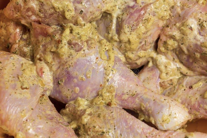Αντικνήμια κοτόπουλου Κρέας κοτόπουλου Πόδια κοτόπουλου στη σάλτσα σκόρδου Σχάρα BBQ Kebabs από τη λωρίδα κοτόπουλου Διαιτητικό κ στοκ φωτογραφίες με δικαίωμα ελεύθερης χρήσης