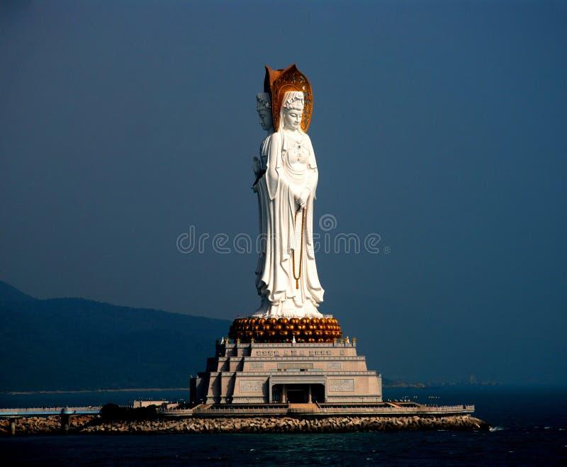 αντιμέτωπο kwan άγαλμα τρία yin στοκ εικόνα