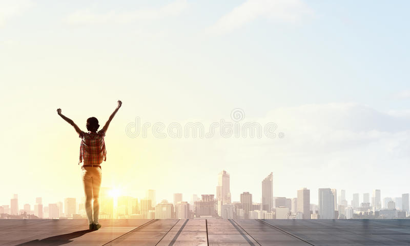 Αντιμετώπιση της νέας ημέρας στοκ εικόνα με δικαίωμα ελεύθερης χρήσης