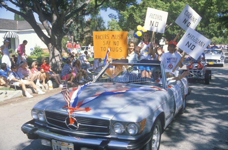 Αντιναρκωτική κοινοτική παρέλαση στοκ εικόνα