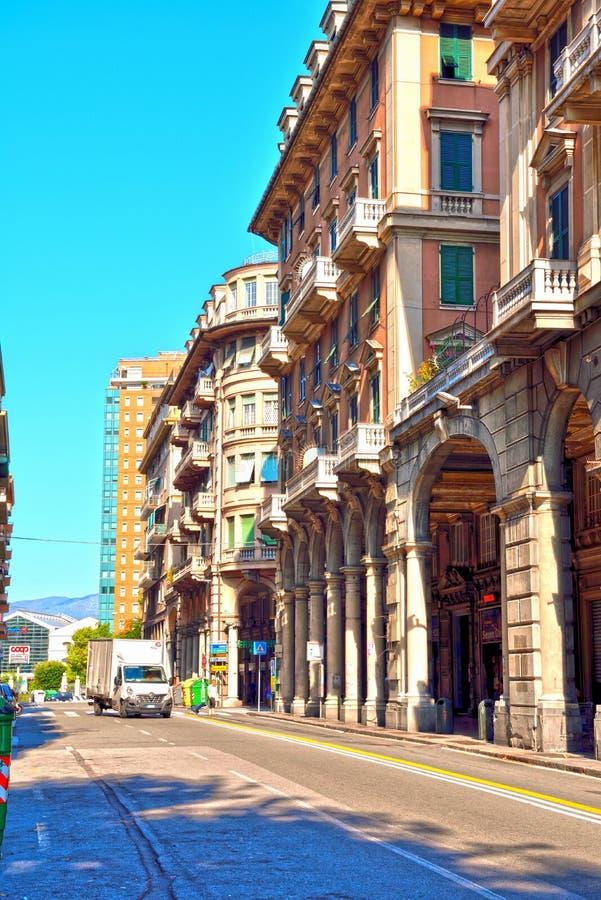 """Αντιπροσωπεία της Γένοβας Ιταλία χώρος SAN αποβαθρών του δ """" στοκ εικόνες"""