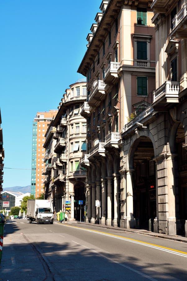 """Αντιπροσωπεία της Γένοβας Ιταλία χώρος SAN αποβαθρών του δ """" στοκ φωτογραφία με δικαίωμα ελεύθερης χρήσης"""