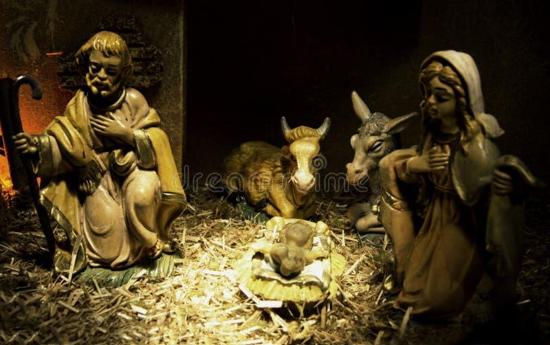 αντιπροσώπευση nativity στοκ εικόνες με δικαίωμα ελεύθερης χρήσης