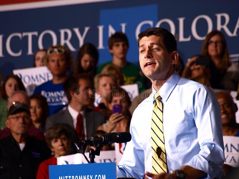 Αντιπρόεδρος Candidate Paul Ryan στοκ εικόνες