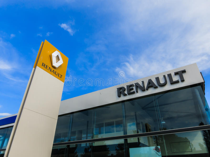Αντιπρόσωπος της Renault στοκ εικόνα με δικαίωμα ελεύθερης χρήσης
