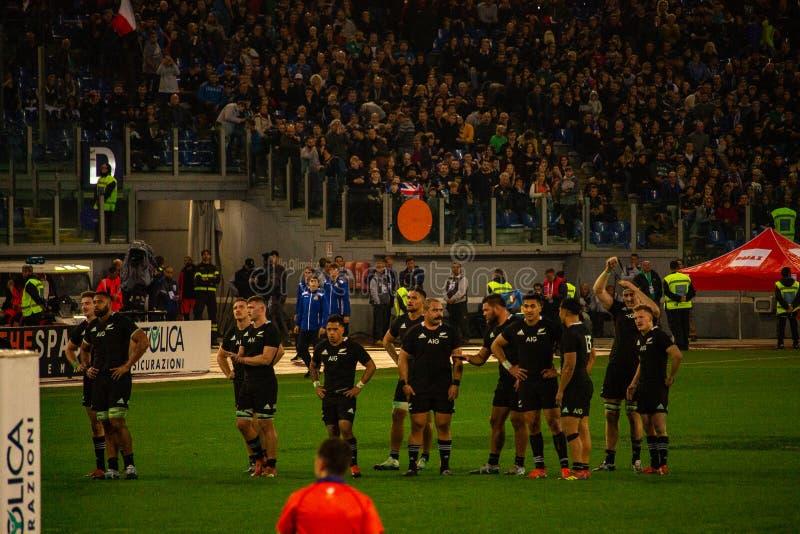 Αντιστοιχία Ιταλία Cattolica ράγκμπι - όλος ο Μαύρος στοκ εικόνα με δικαίωμα ελεύθερης χρήσης