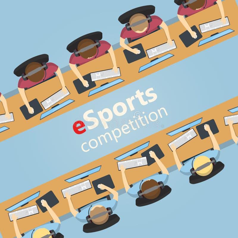 Αντιστοιχία ESports 5v5, ομάδα εναντίον της ομάδας απεικόνιση αποθεμάτων