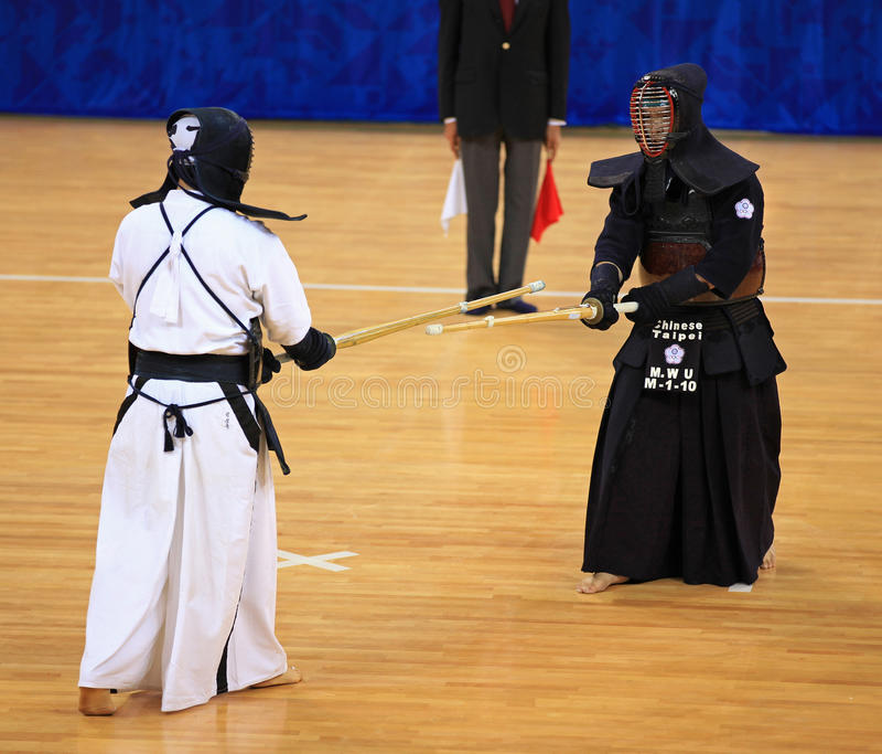 αντιστοιχία kendo στοκ φωτογραφία με δικαίωμα ελεύθερης χρήσης