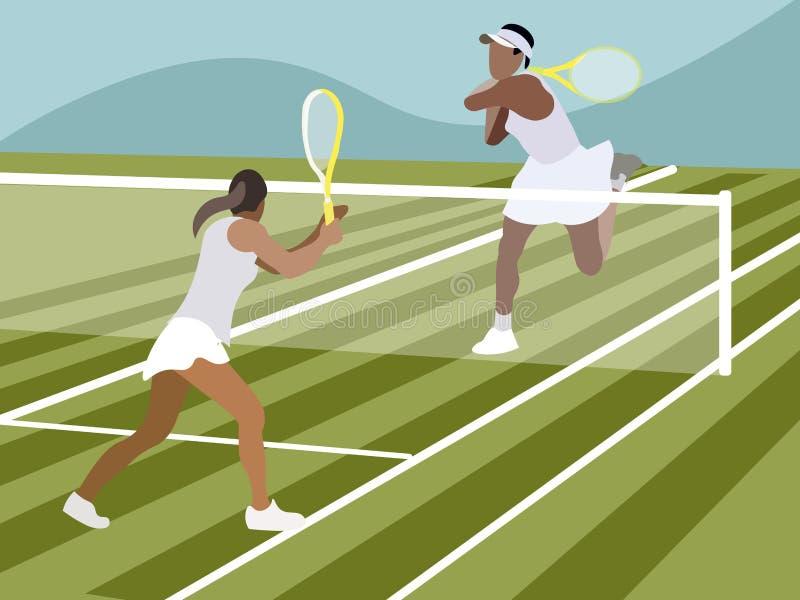 Αντισφαίριση, αθλητικό παιχνίδι Στο μινιμαλιστικό επίπεδο διάνυσμα κινούμενων σχεδίων ύφους απεικόνιση αποθεμάτων