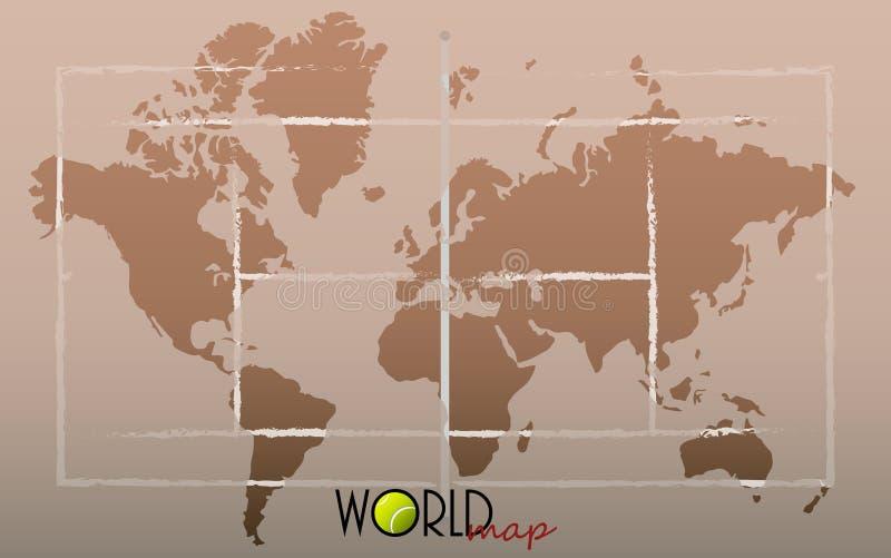 Αντισφαίριση παγκόσμιων χαρτών διανυσματική απεικόνιση