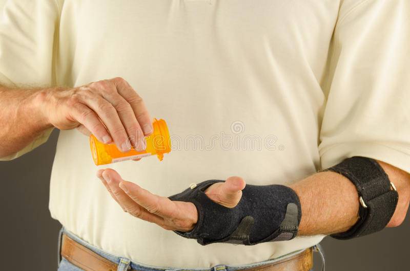 Αντιφλεγμονώδες φάρμακο τενοντίτιδας πόνου στοκ φωτογραφίες