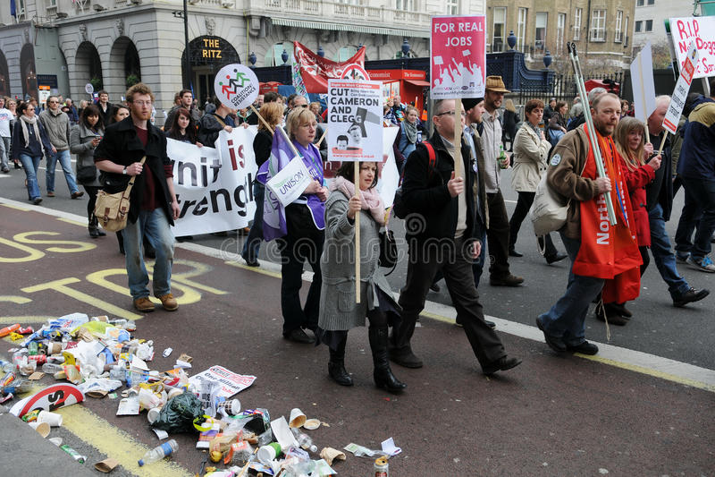 αντι διαμαρτυρία του Λο&n στοκ εικόνα με δικαίωμα ελεύθερης χρήσης