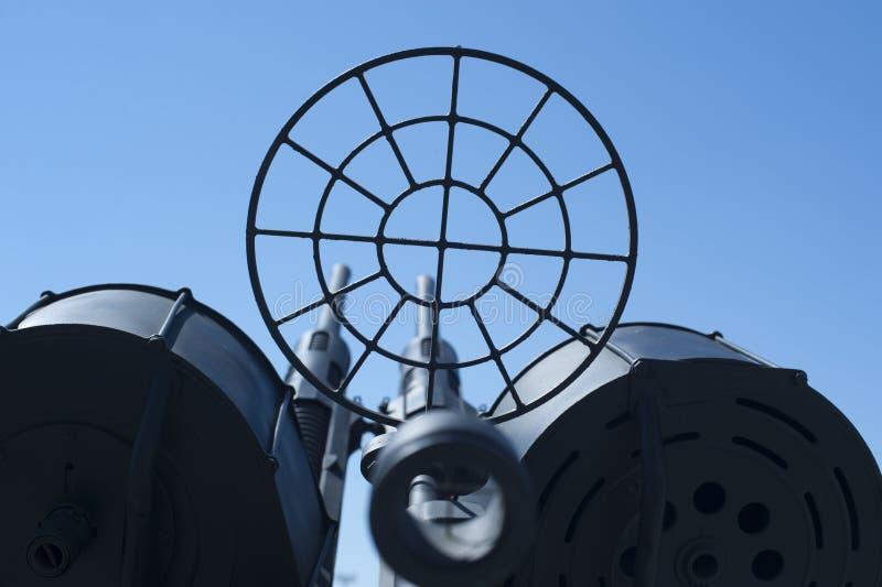 Αντι πυροβόλο όπλο αεροσκαφών στο ναυτικό μουσείο στοκ φωτογραφίες με δικαίωμα ελεύθερης χρήσης