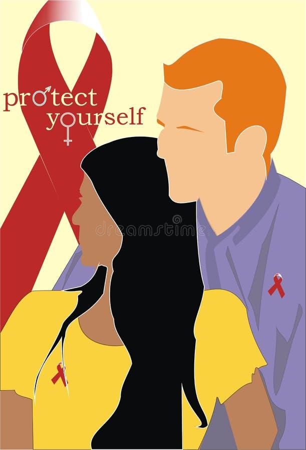 αντι HIV διανυσματική απεικόνιση
