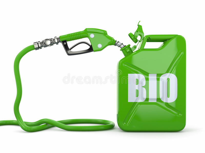 αντλία ακροφυσίων κανίστρων αερίου βιολογικών καυσίμων απεικόνιση αποθεμάτων