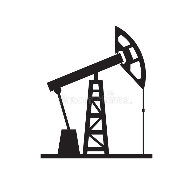 Αντλία πετρελαίου - μαύρο εικονίδιο στην άσπρη διανυσματική απεικόνιση υποβάθρου για τον ιστοχώρο, κινητό applicaton, παρουσίαση, ελεύθερη απεικόνιση δικαιώματος