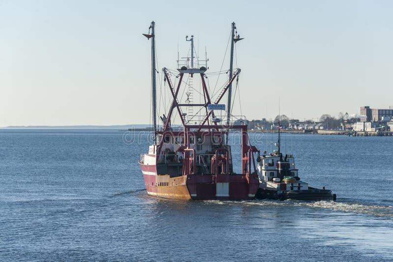 Αντοχή Νιού Μπέντφορτ αλιευτικών σκαφών ιαγουάρων ρυμουλκών στοκ φωτογραφία