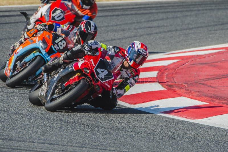 Αντοχή Yamalube Folch ομάδας 24 ώρες Motorcycling Catalunya στοκ φωτογραφίες με δικαίωμα ελεύθερης χρήσης