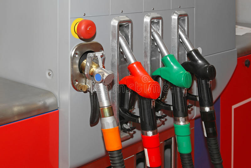 Αντλία αερίου CNG στοκ εικόνες