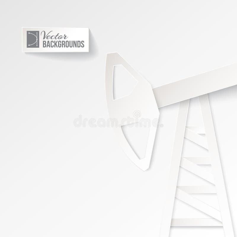 Αντλία πετρελαίου Origami σε ένα άσπρο υπόβαθρο. ελεύθερη απεικόνιση δικαιώματος
