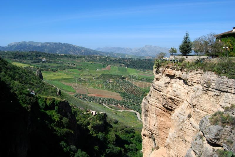 Ανυψωμένη άποψη της επαρχίας, Ronda, Ισπανία στοκ φωτογραφίες