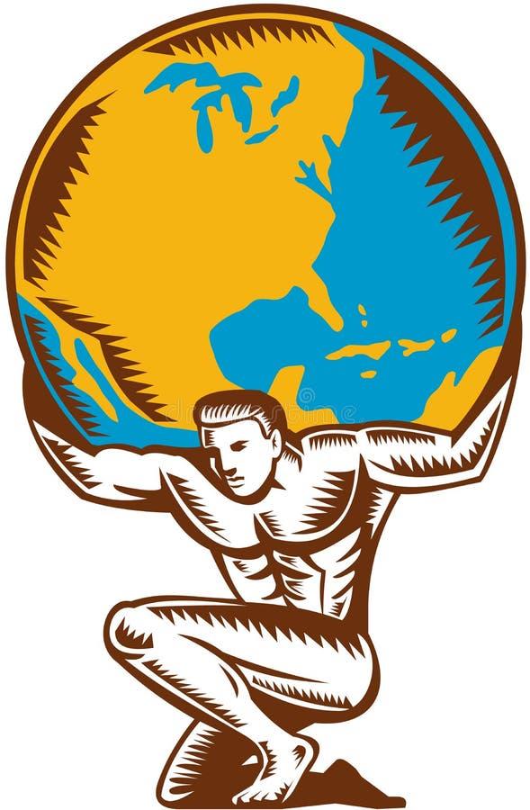 Ανυψωτική ξυλογραφία ικεσίας σφαιρών ατλάντων ελεύθερη απεικόνιση δικαιώματος