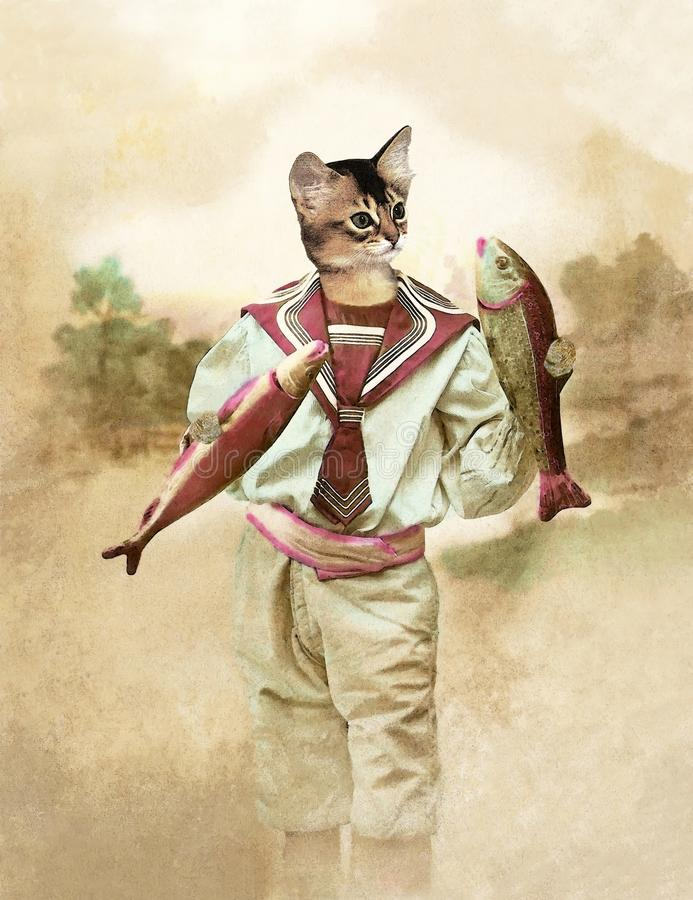 Ανόητος Απριλίου γατών στοκ εικόνες