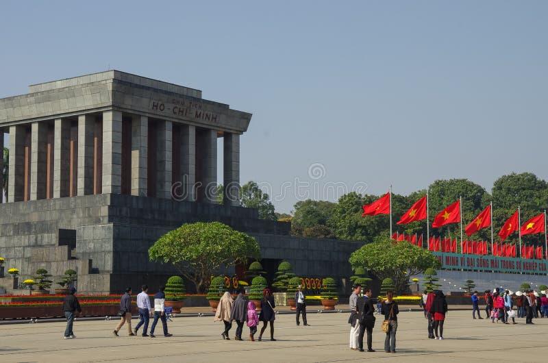 Ανόι, Βιετνάμ - 1 Ιανουαρίου 2015: Μαυσωλείο του Ho Chi Minh σε Hano στοκ εικόνα με δικαίωμα ελεύθερης χρήσης