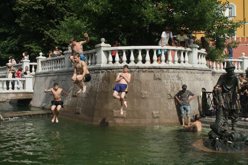 ανώμαλο heatwave Μόσχα στοκ εικόνα