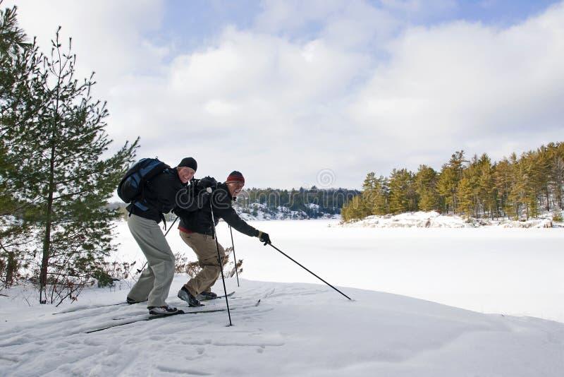 Ανώμαλα σκι ζεύγους στο πάρκο Killarney, Οντάριο στοκ εικόνες με δικαίωμα ελεύθερης χρήσης