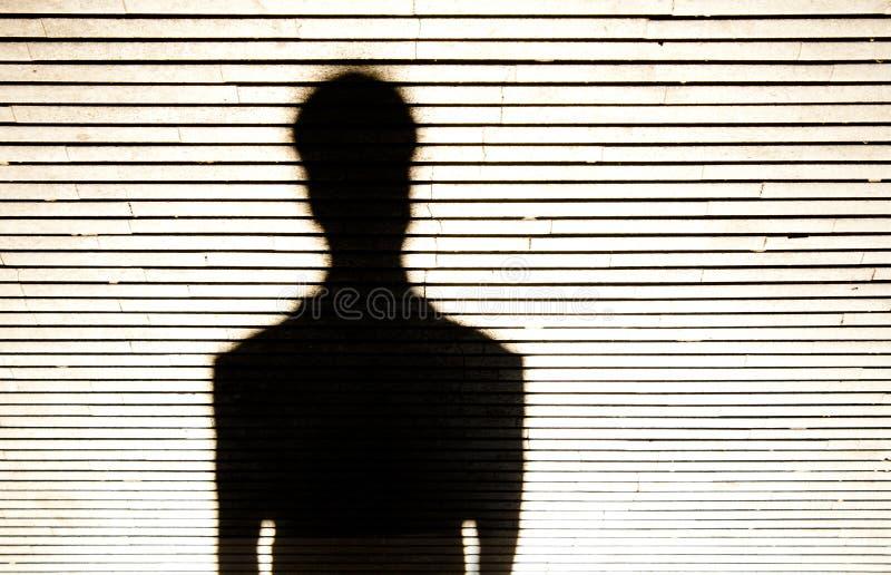 Ανώνυμη σκιαγραφία πορτρέτου προσώπων στοκ εικόνες με δικαίωμα ελεύθερης χρήσης