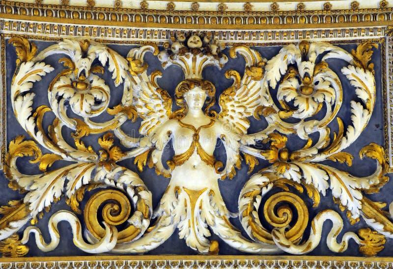 Ανώτατη μερίδα στοών στα μουσεία Βατικάνου στοκ εικόνα με δικαίωμα ελεύθερης χρήσης