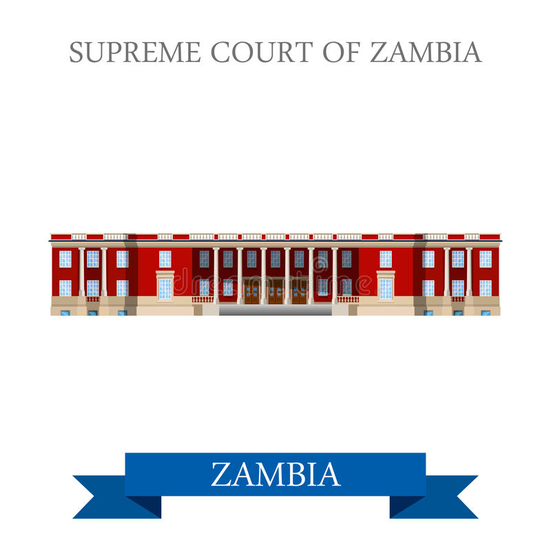 Ανώτατο δικαστήριο της Ζάμπια Επίπεδο ιστορικό vecto θέας απεικόνιση αποθεμάτων