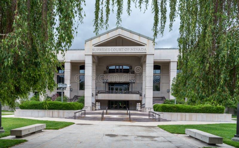 Ανώτατο δικαστήριο της Νεβάδας στην πόλη του Carson στοκ φωτογραφίες