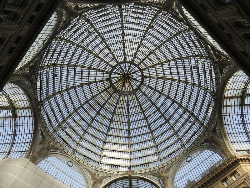 Ανώτατο όριο του Umberto I Galleria Ιταλία Νάπολη στοκ φωτογραφίες με δικαίωμα ελεύθερης χρήσης