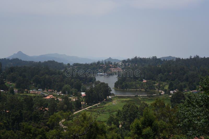 Ανώτερη άποψη λιμνών, Kodaikanal, Tamil Nadu στοκ εικόνες